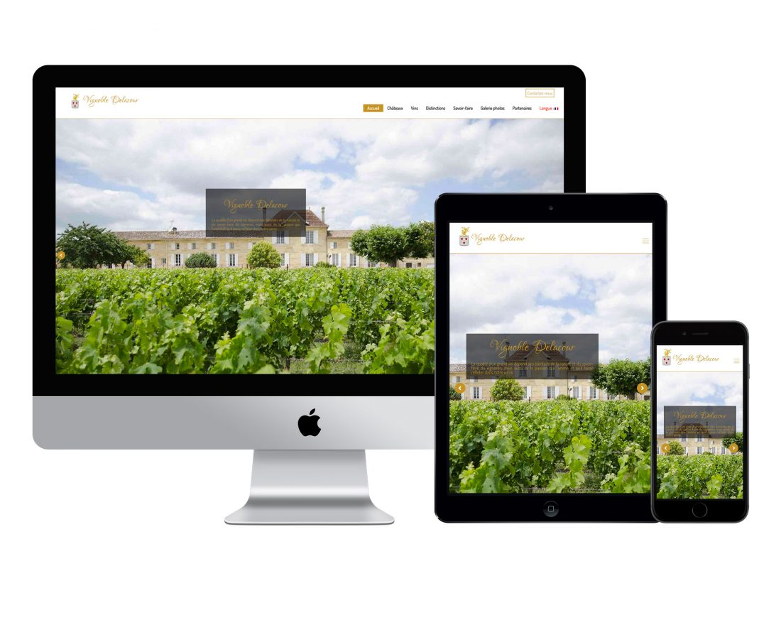 site internet vignoble chateau domaine cave cooperative
